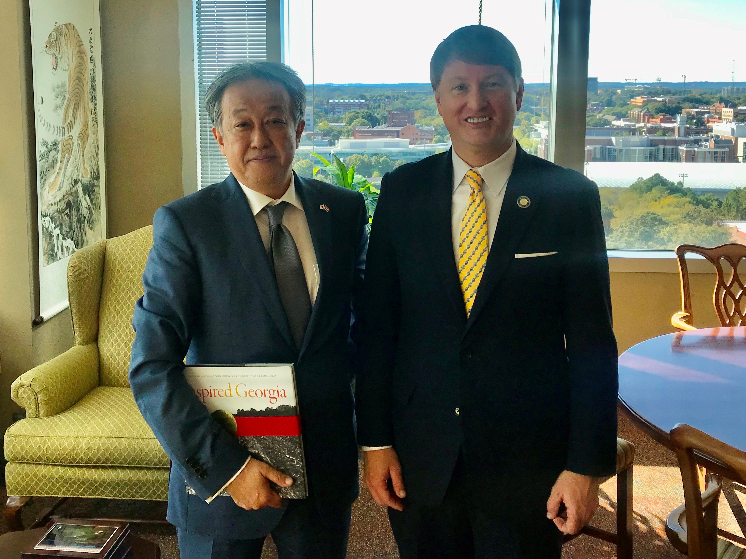CG Takeuchi's courtesy visit to Commissioner Pat Wilson